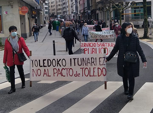 Eibarko pentsiodunek zapatu eguerdirako manifestazioa deitu dute, hilaren 29ko mobilizazioaren atarian