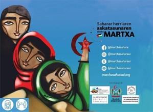 Saharar herriaren askatasunaren aldeko martxa antolatu dute zapaturako, Eibartik Ermura