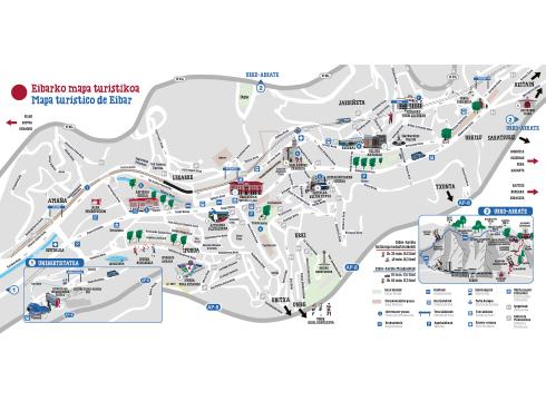 Eibarko Mapa Turistikoa eskuragarri dago
