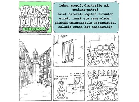 Azpilikueta aita-semeen beste biñeta bat argitaratu du Ego Ibarra batzordeak