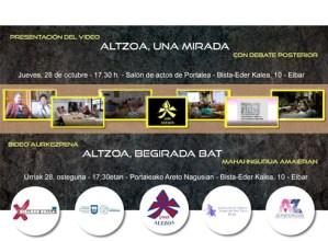 """Altzoa elkarteak """"Altzoa: begirada bat"""" dokumentala aurkeztuko du urriaren 28an"""
