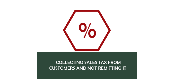 Collecting sales tax from customers and not remitting it