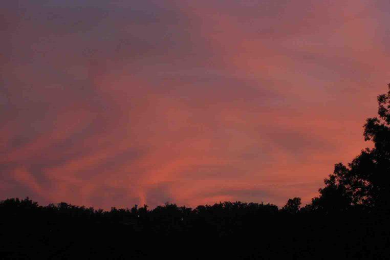 sunset in Missouri