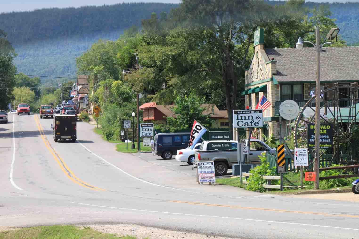 town of Jasper in the ozarks