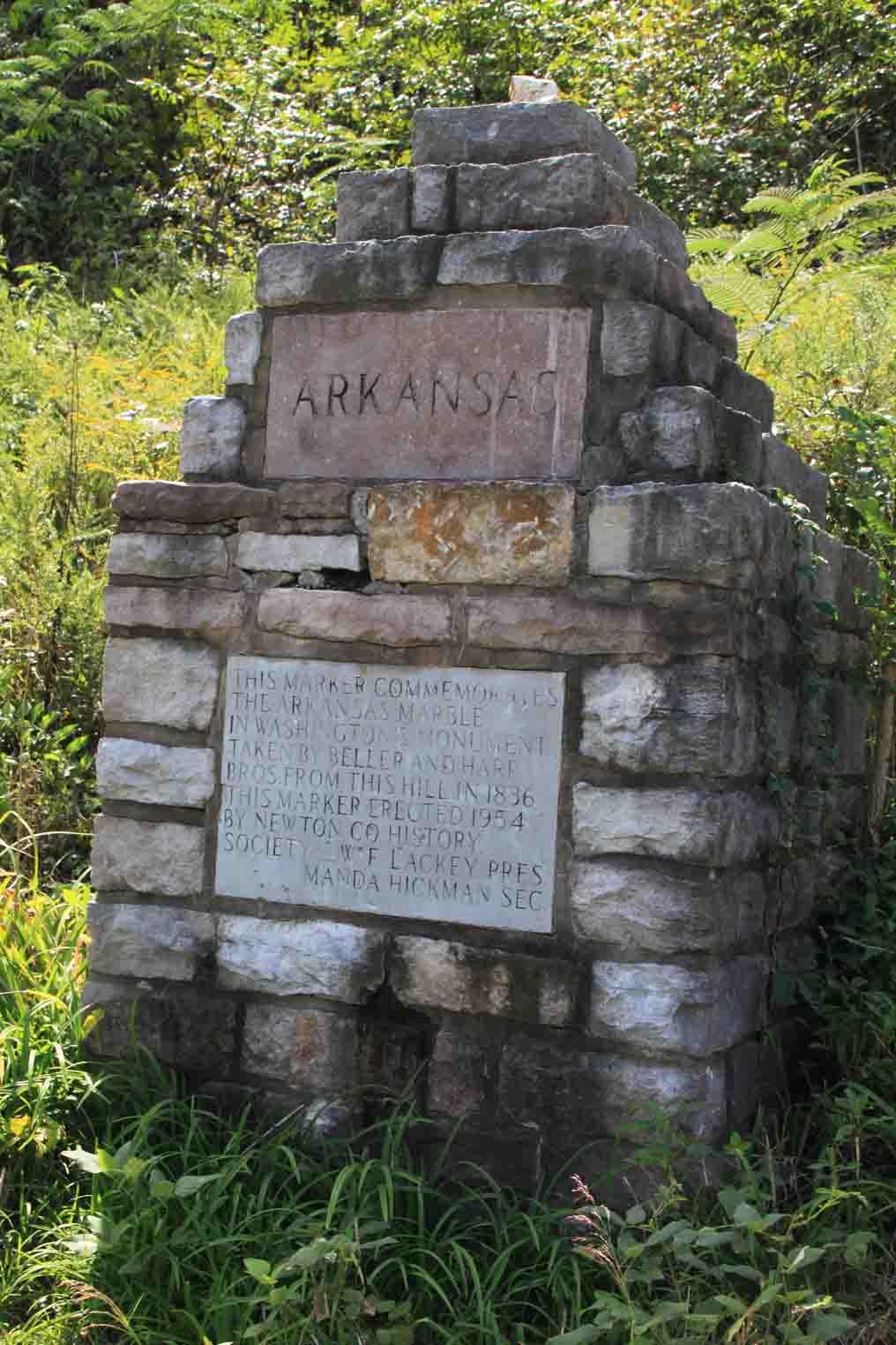 historical marker in the ozarks