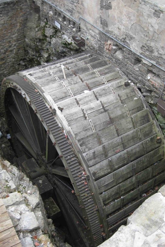 water wheel at the Triphammer Building