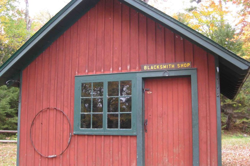 black smith shop at great camp sagamore
