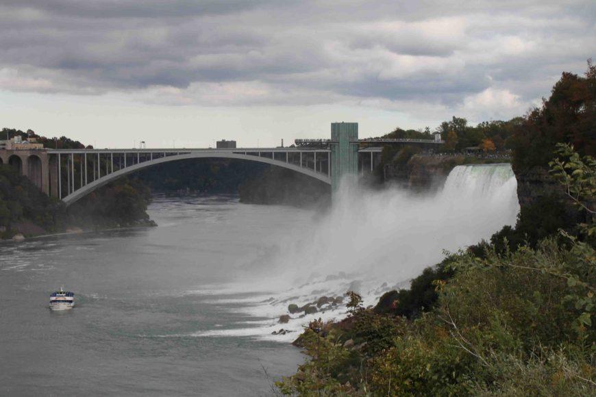 bridal falls at Niagara Falls on the seaway trail