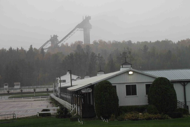 Lake Placid Horse Show Grounds and ski jumps