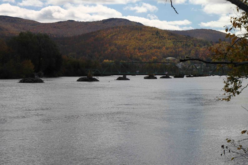 man-made islands in the androscoggin river