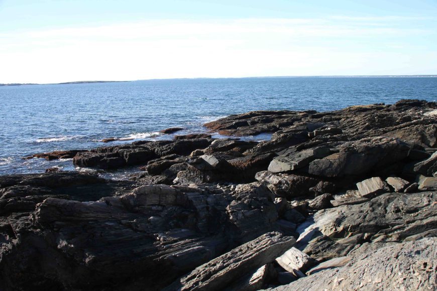 canon rock in prouts neck maine