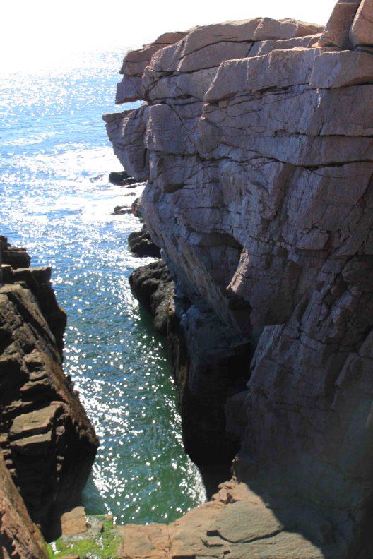 thunder hole at acadia national park at mount desert island