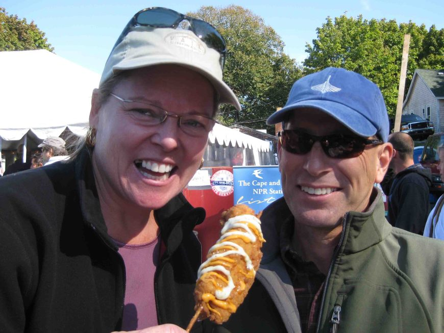 liese and eric at the wellfleet oyster fest