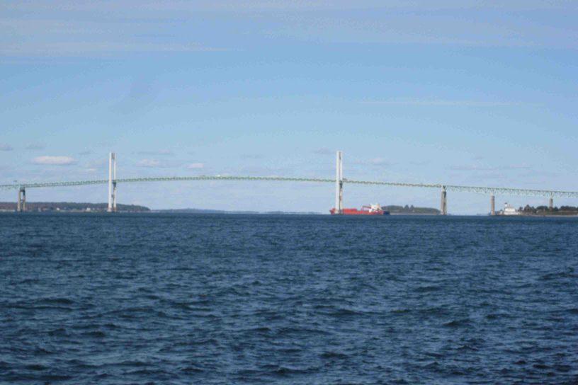 bridge across Narragansett Bay in Rhode Island