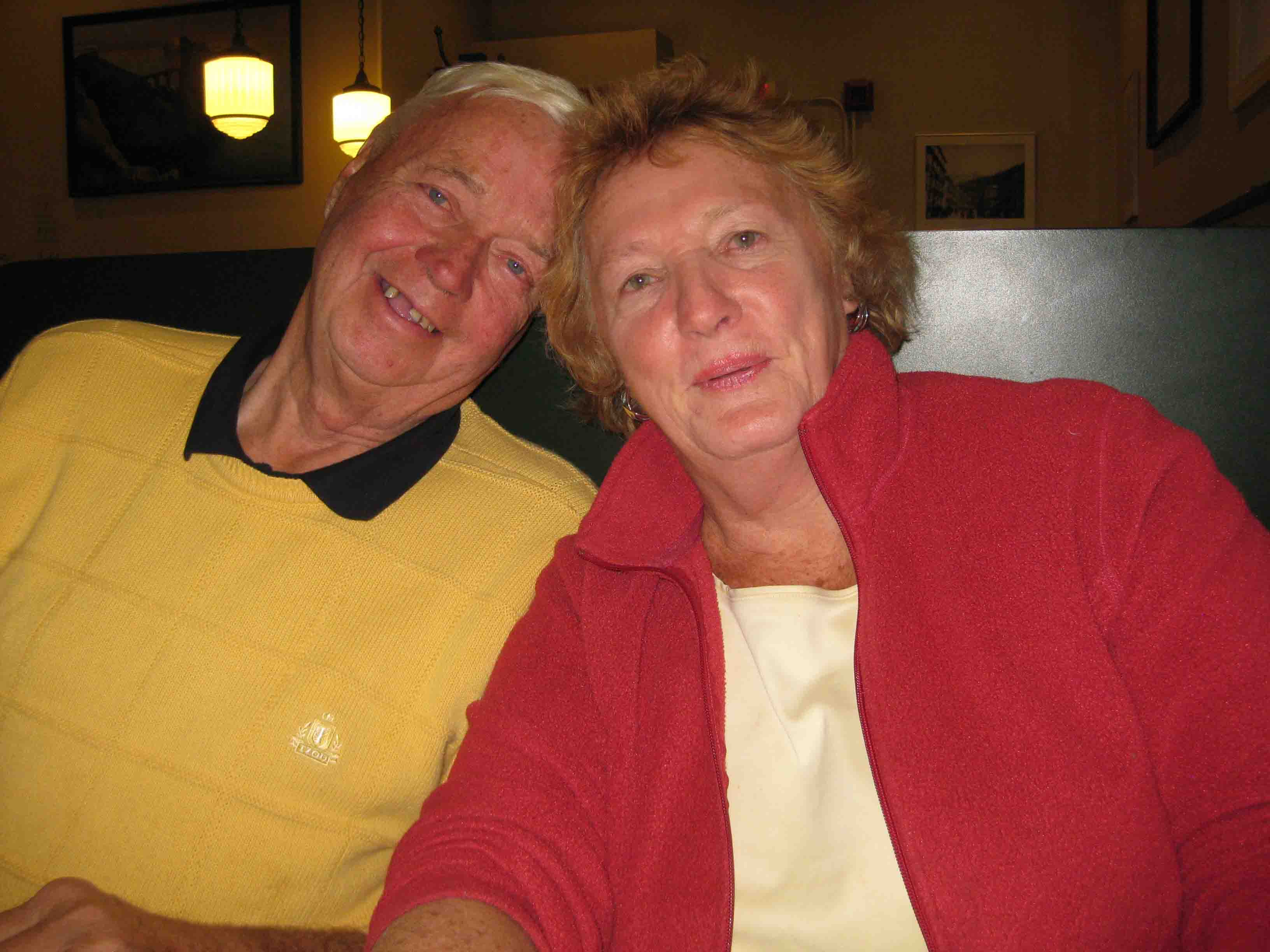 John and Barbara at Frank Pepe