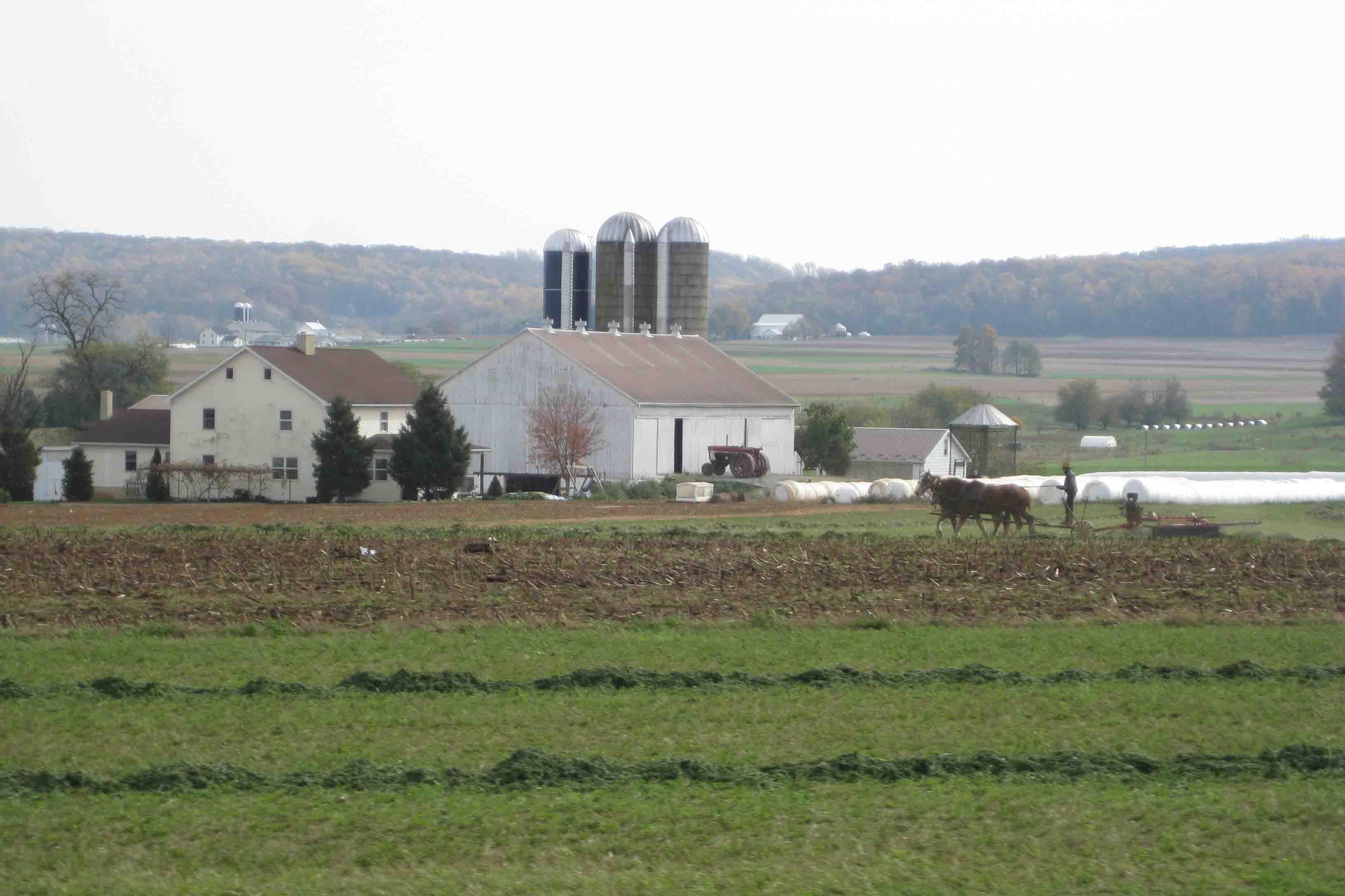 amish farmland in the Pennsylvania Dutch country