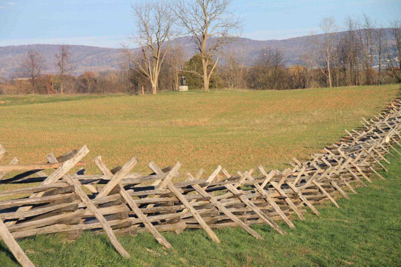 antietam national battlefield fencing