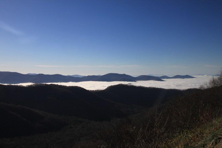 view on blue ridge parkway in North carolina