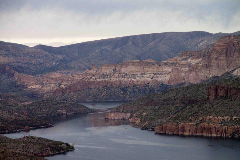 apache lake on Arizona's Apache Trail