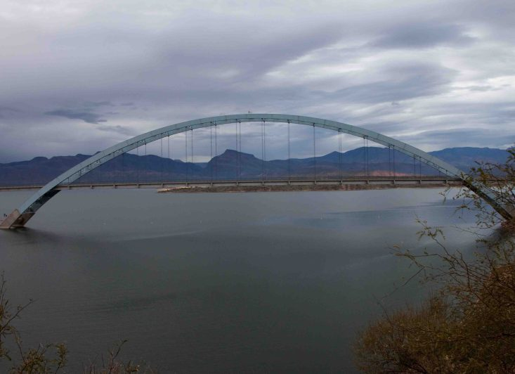 Roosevelt Lake Bridge on the apache trail