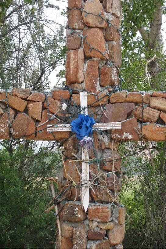 crucifix at El Santuario de chimayo