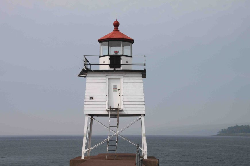 two harbors lighthouse on Minnesota's north shore