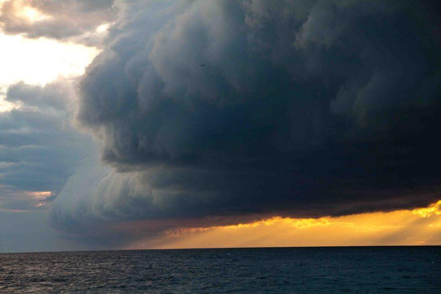 storm in Mackinaw City