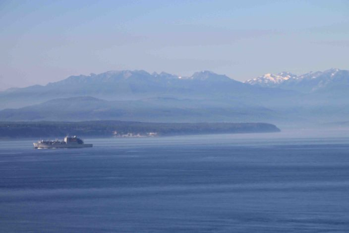 view from fort ebey state park