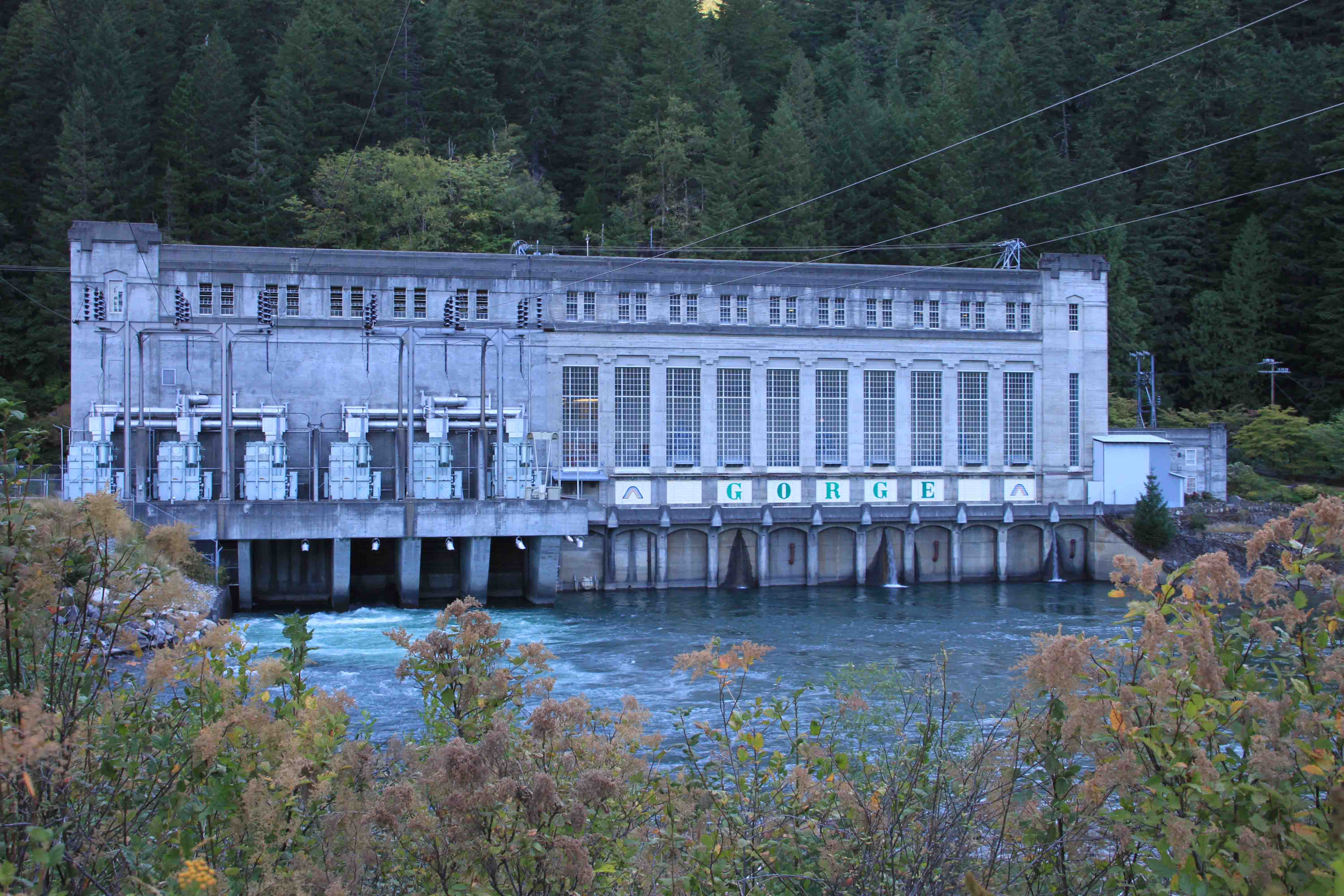 gorge powerhouse in the north cascades