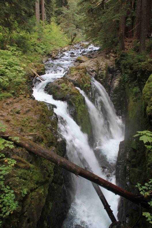 sol duc waterfall on the olympic peninsula