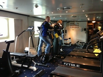 gym on boat
