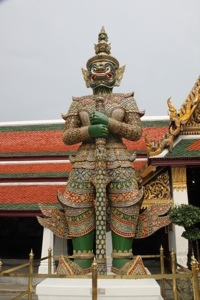 demon giant at temple complex in bangkok