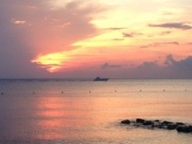 sunset in cozumel