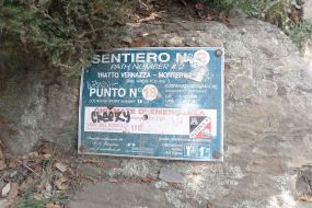 Geographic benchmark...a plastic sign instead of metal posts in USA