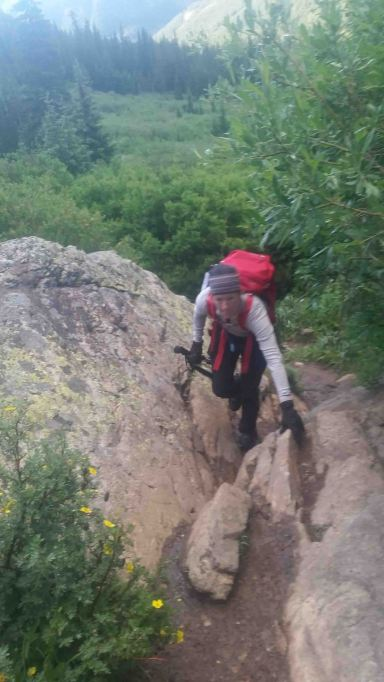 climbing up mount massive