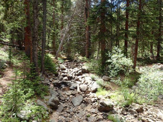 dry creek, segment 9 of the Colorado trail