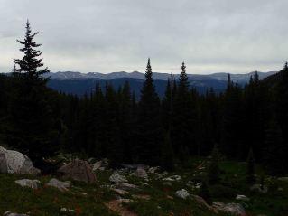 view on the Colorado Trail segment 9