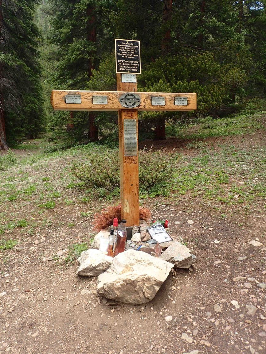 Memorial to Army Copter crew that crashed into Massive