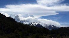 view of Fitz Roy from Laguna Capri