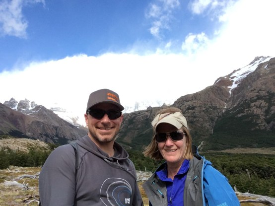 Can't see Fitz Roy behind us