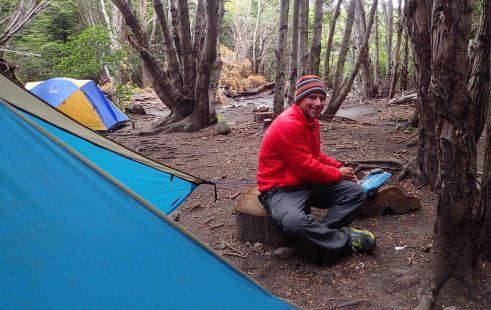 our campsite at Campamento Italiano