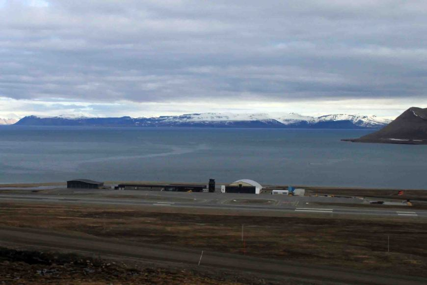 the new airport in Longyearbyen, Spitsbergen