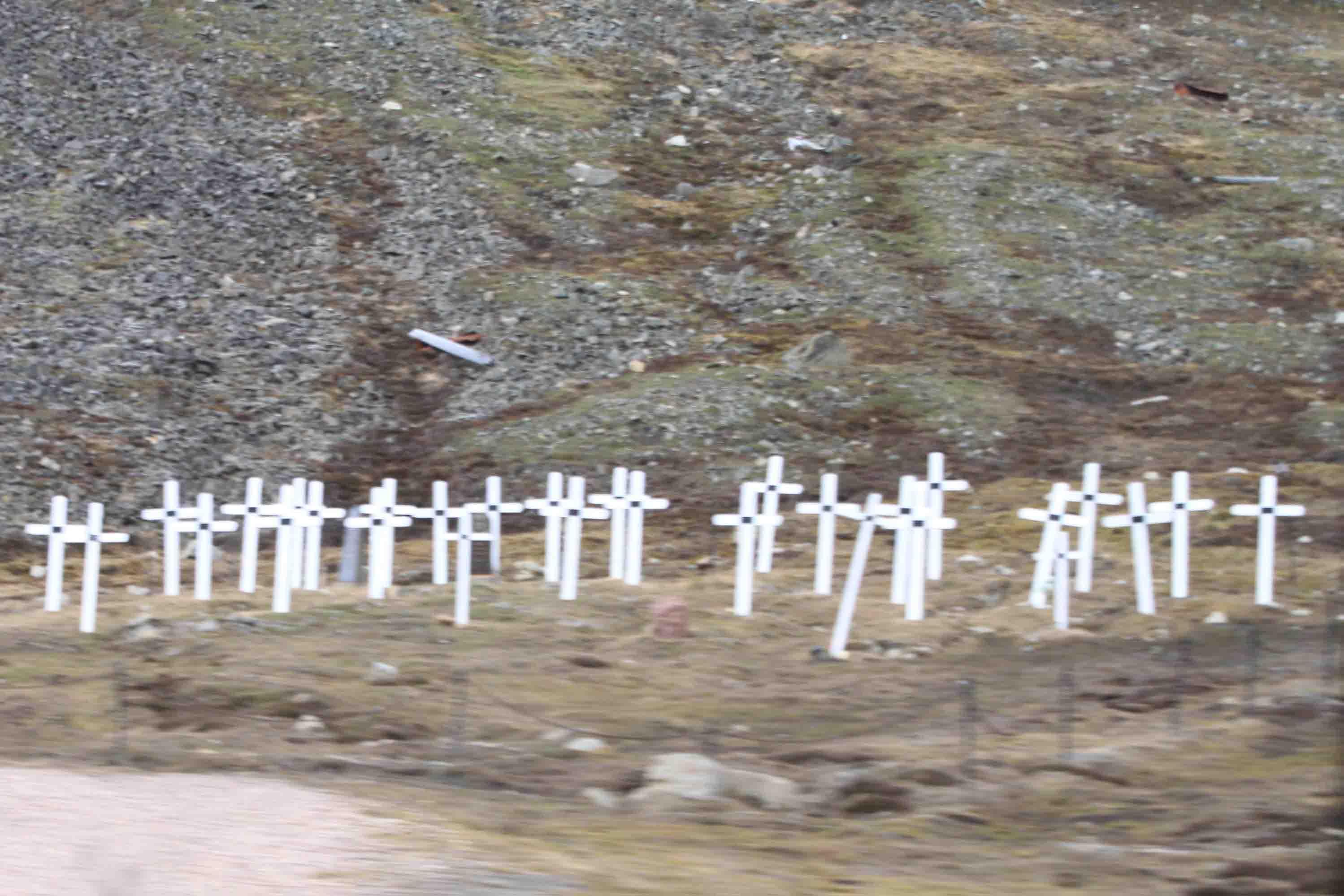 old cemetery in Longyearbyen, Spitsbergen