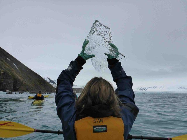 holding up brash ice