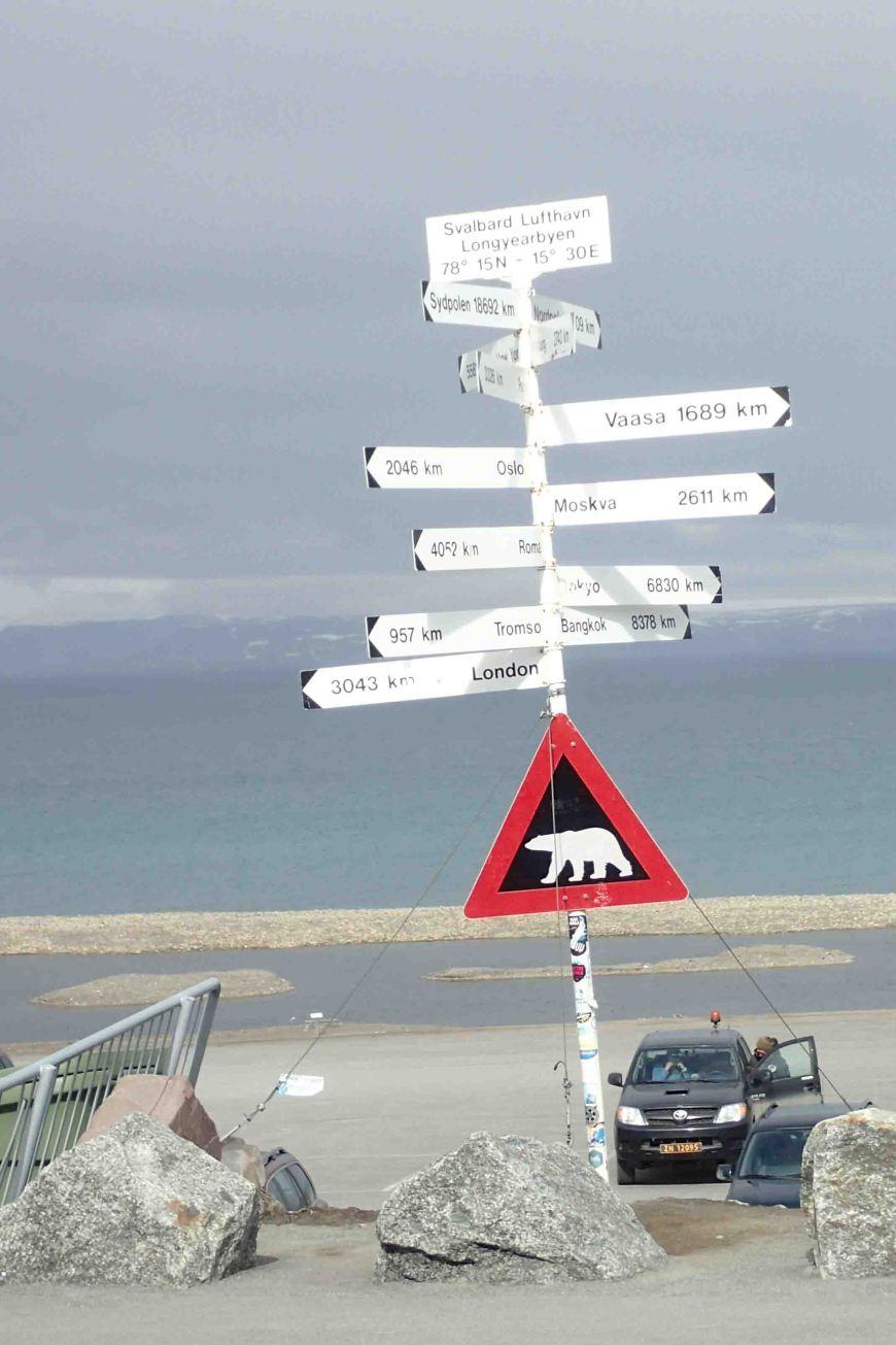 sign on longyearbyen