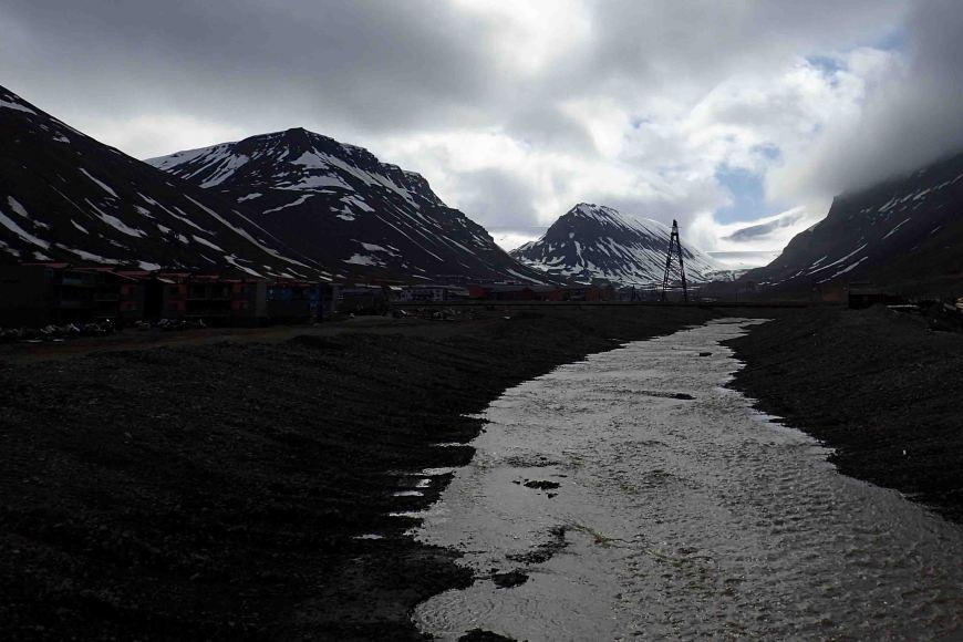 glacial melt on longyearbyen