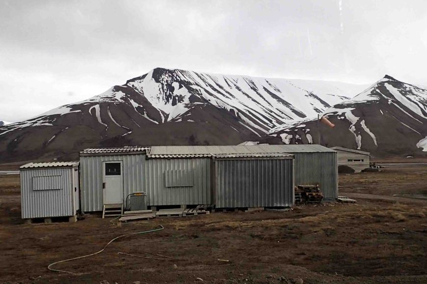 the old airport in Longyearbyen, Spitsbergen