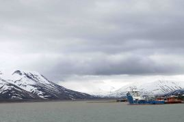 icebreaker in harbor