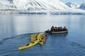 zodiac ride to beginning paddle spot