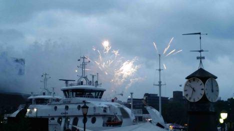 fireworks over harbor